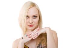 Blond meisje Stock Afbeeldingen