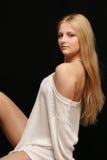Blond meisje. Stock Foto's