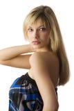 Blond meisjesportret Royalty-vrije Stock Fotografie