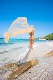 blond mermaid Fotografering för Bildbyråer