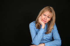 Blond middle aged woman Royalty Free Stock Photo