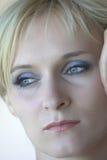 Blond mit blauen Augen Stockfoto