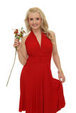Blond mit Blumen Lizenzfreies Stockbild