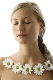 Blond mit geschlossenen Augen Lizenzfreies Stockfoto