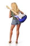 Blond mit Gitarre Lizenzfreie Stockfotos