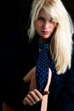 Blond mit Gleichheit Lizenzfreies Stockbild