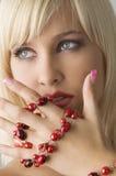Blond mit Halskette Lizenzfreies Stockfoto