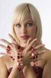 Blond mit Halskette Lizenzfreie Stockfotografie