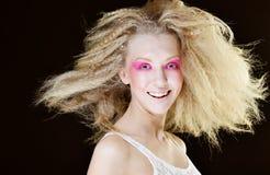 Blond mit Rosa bilden Sie Stockbild
