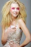 Blond mit Rosa bilden Sie Lizenzfreies Stockbild