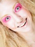 Blond mit Rosa bilden Sie Stockfotografie