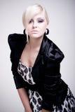 blond modeflickalyx Royaltyfri Foto
