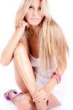 Blond model Stock Photos