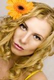 Blond model Stock Foto's