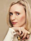 Blond model royalty-vrije stock afbeeldingen