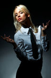Blond model pose royalty free stock photo