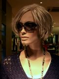 blond model with sunglasses Stock Images