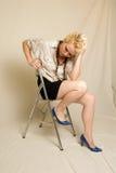 blond modell Arkivfoton