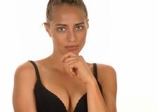 blond modell Arkivbild