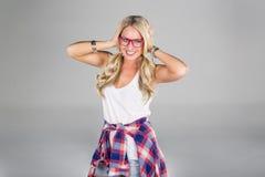 blond modell Arkivfoto