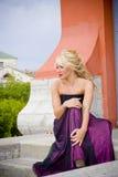 blond modell arkivbilder
