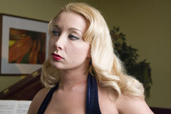 blond modell Royaltyfri Foto