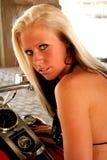 blond modemodell Royaltyfria Foton
