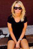 blond modemodell arkivbild