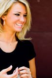 blond modemodell Arkivfoton