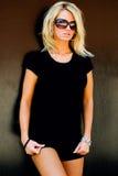 blond modemodell royaltyfri fotografi