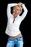 blond modemodell arkivbilder