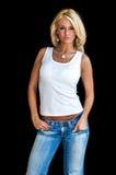 blond mody model Zdjęcie Royalty Free