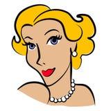 blond mody retro kobieta royalty ilustracja