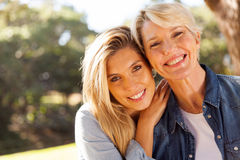 Blond mother daughter Stock Photography
