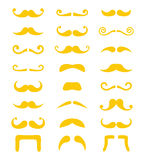 Blond moustache or mustache vector icons set Royalty Free Stock Image