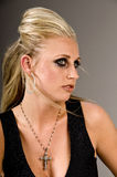 blond mörk lättretlig makeup Royaltyfri Bild