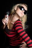 Blond Music Girl Stock Photos