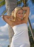 blond nätt kvinna Arkivbilder