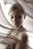 Blond with nacklace Royalty Free Stock Photography
