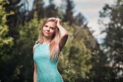 Blond in nature Stock Images