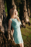 Blond in nature Royalty Free Stock Photo