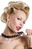 The blond with necklace Royalty Free Stock Photos