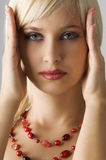 Blond with necklace Royalty Free Stock Photo