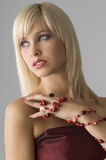 Blond with necklace Stock Image