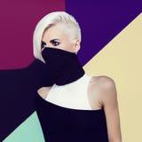Blond ninja lady style Royalty Free Stock Image