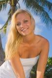blond nätt kvinna Royaltyfria Bilder