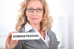 Blond office worker Royalty Free Stock Photo