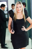 Blond office worker Royalty Free Stock Photos