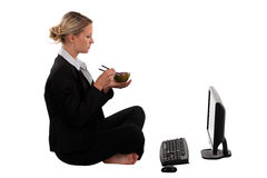 Blond office worker Royalty Free Stock Image