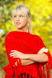 Blond in openlucht Stock Afbeeldingen